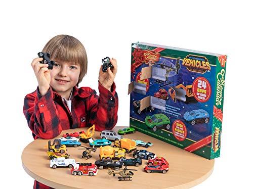 Christmas Advent Diecast Cars Calendar for Kids