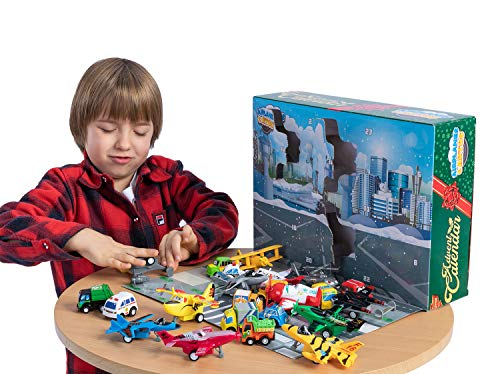 Advent Calendar Kids with Pull-Back Aircraft and Vehicles