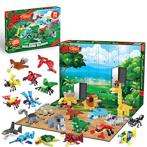 JOYIN 2020 Advent Calendar with Animal Building Blocks