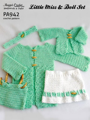 Crochet Pattern Little Miss and Doll Set PA942-R   For kids and 18-in Dolls aff