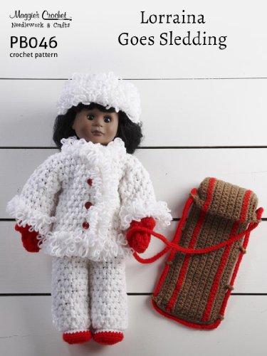 Crochet Pattern Lorraina Goes Sledding PB046-R aff