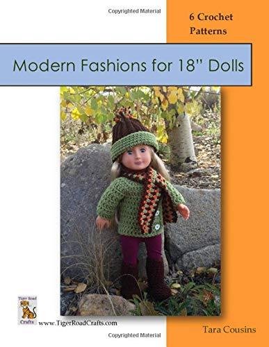 "Modern Fashions for 18"" Dolls: 6 Crochet patterns aff"