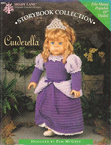 """Cinderella - Storybook Collection - Crochet Pattern for 18"""" Doll aff"""