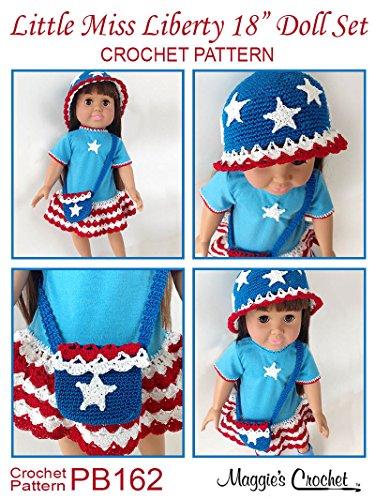 Crochet Pattern Little Miss Liberty 18 inch Doll