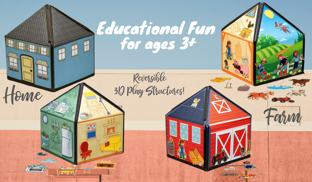 SmartFelt 3D Interactive Felt Playset – Educational Fun for ages 3+