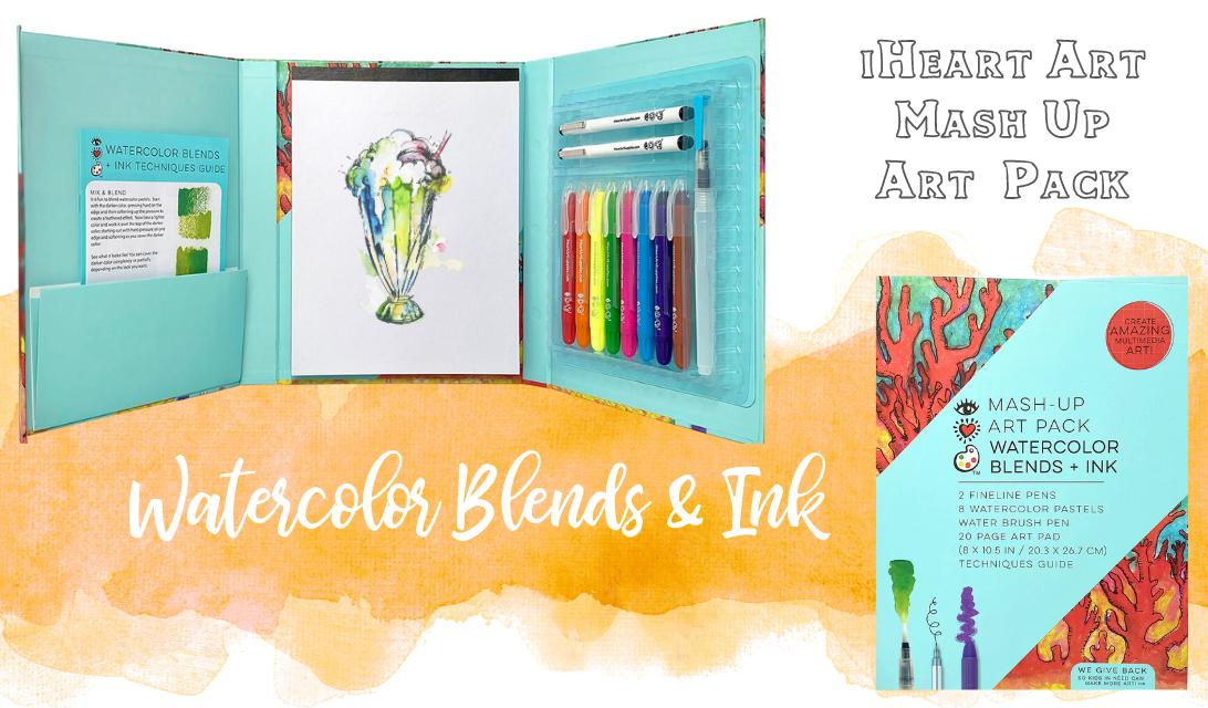 iHeart Art Mash-Up Art Pack Watercolor Blends & Ink ad
