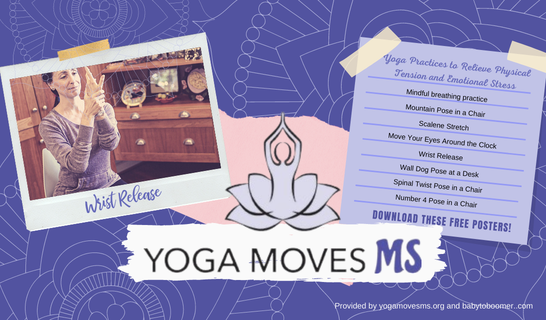 Free Adaptive Yoga Poster Printable Downloads from YogaMovesMS.org and BabytoBoomer.com