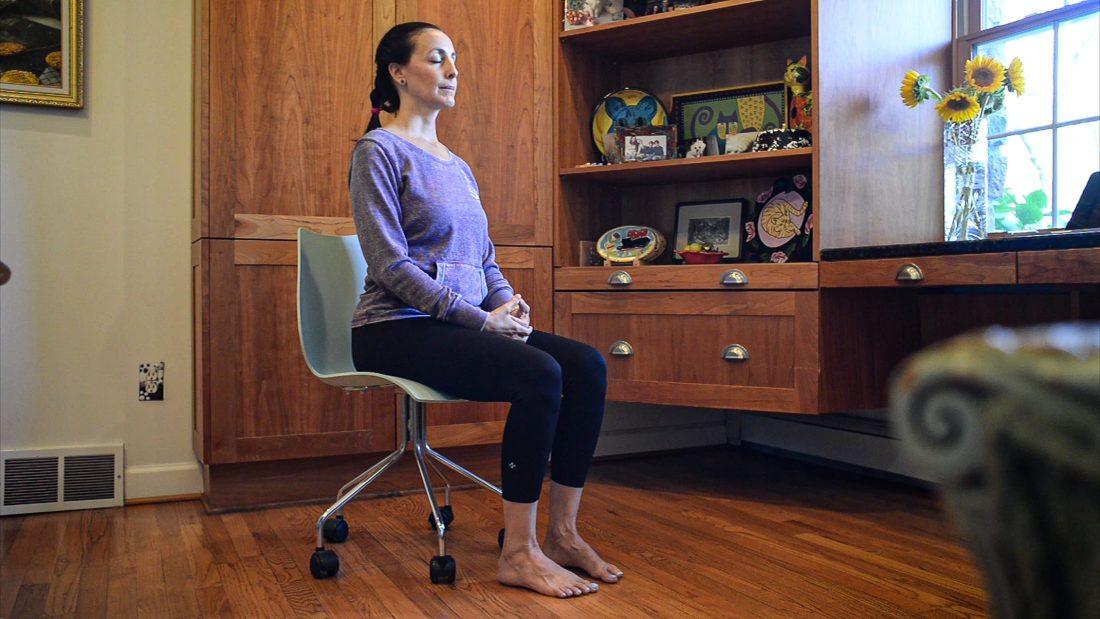 Yoga Moves MS Adaptive -Mindful Breathing - Photo Credit Elayne Gross - Exercise for Multiple Sclerosis