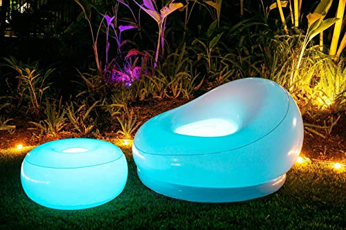 AIR CANDY ILLUMINATED LED INFLATABLE CHAIR - pouf sold seperately